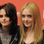 DAKOTA FANNING AND KRISTIN STEWART:  These hip young things became inseparable during the making and promotion of The Runaways with Dakota saying of Kristen,