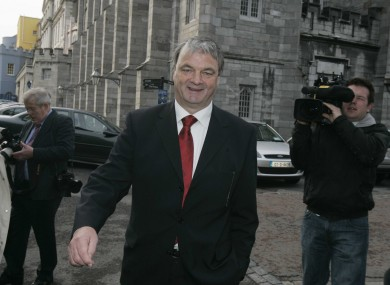 File photo of Des Richardson, a former Fianna Fáil fundraiser, leaving the Mahon Tribunal in 2007. Richardson appears on the latest tax defaulters' list.