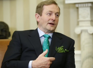 The Taoiseach's US trip has moved to the west coast of the country (file photo).