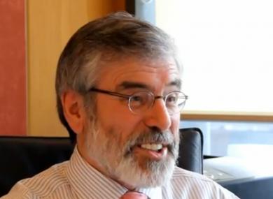 Gerry Adams speaking to TheJournal.ie this week