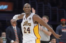 Kobe Bryant served up this dunk and a high-5 for Ari Gold last night
