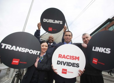 From left to right: Kirsten Fray (Irish Rail), Eric Musoke (LUAS), Sean McDyer (Taxi Driver) and Ricky Palban (Dublin Bus).