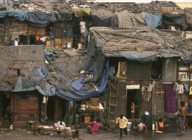 A slum in Mumbai, one of the major cities in the Maharashtra state in India where thousands of children die every year from malnutrition.