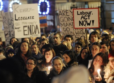 A pro-choice rally in Dublin in December. Ireland has told the Council of Europe that legislation allowing abortion - within the terms of the X Case - will be in place by July.