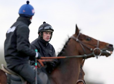 Ruby Walsh on the gallops at Cheltenham.