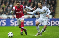 Nacho's crisp finish helps Arsenal to win over Swansea