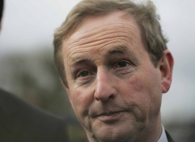 Taoiseach and Fine Gael leader Enda Kenny pictured yesterday in Kildare