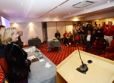 Labour party grass-roots meeting in Gresham Hotel in Dublin.