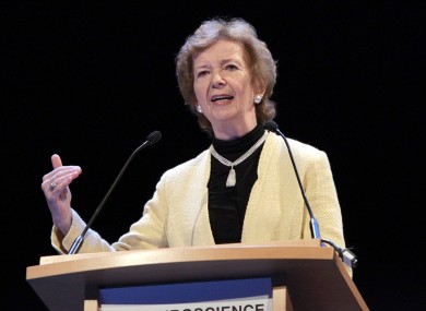 Former President of Ireland and Former UN High-Commissioner, Mary Robinson