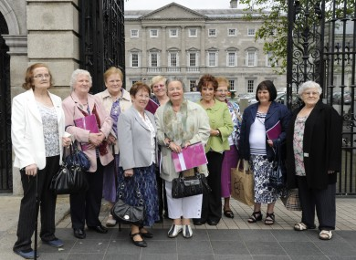 Members of the Survivors of Symphysiotomy group, seen at Leinster House during a visit last year.