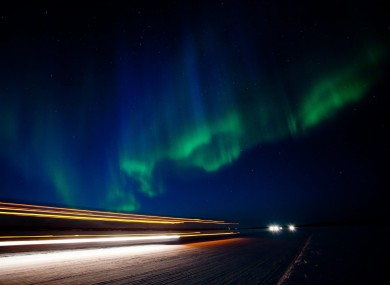 The largest solar storm in 5 years showed up in the form of aurora borealis, shown here in Canada, in March last year.