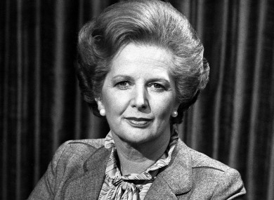 File photo of Prime Minister Margaret Thatcher