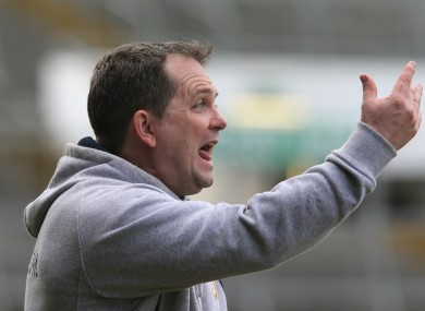Clare manager Davy Fitzgerald during yesterday's relegation play-off.