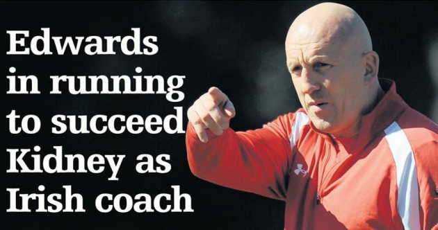 Reports in Wales linking Shaun Edwards to Ireland head coach job