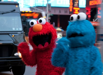 File photo of Sesame Street characters in Times Square