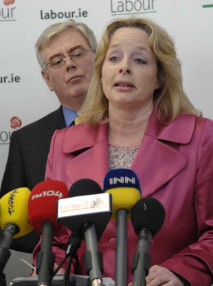 Nessa Childers with Eamon Gilmore in 2009.