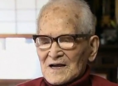 Jiroemon Kimura, who turned 116 yesterday.