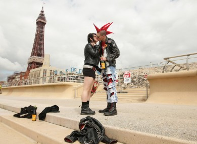 Punks pictured at Blackpool sea front (File photo)