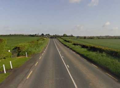 File photo of the R132 outside Dunleer, where last night's fatal accident occurred.