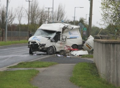 One person was killed, and two others injured, when their van was involved in a collision on Rathbeale Road. (Photo courtesy of SwordsToday.ie)