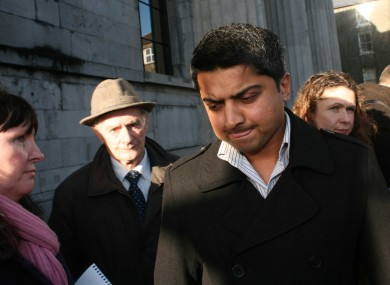 Savita's husband Praveen Halappanavar at the preliminary inquest into her death in January