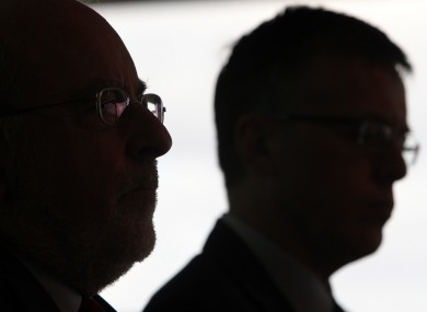 Central Bank Governor Patrick Honohan and Financial Regulator Matthew Elderfield on Tuesday