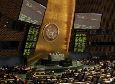 File photo of the United Nations General Assembly.
