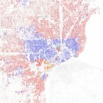 Detroit's inner city is almost exclusively black, except for a small Hispanic corner in the southwest called