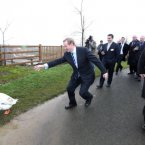 Enda giving this goose a run for his money last week.  Image: Photocall Ireland
