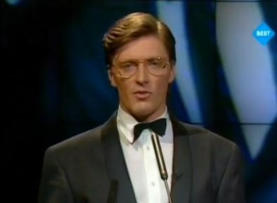 Pat Kenny hosting the Eurovision in the RDS in 1988