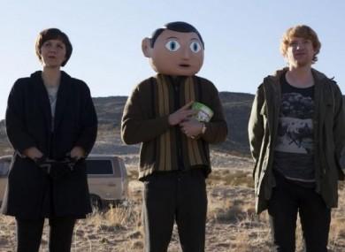 Scene from Lenny Abrahamson's new movie Frank