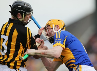 JJ Delaney and Lar Corbett clash.