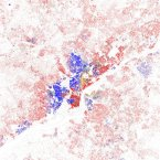 North and West Philadelphia remain stayed heavily black, with a pocket of Hispanics. White people stick to South and Northeast Philly and the suburbs. Philadelphia's  black-white dissimilarity score is 73.7, according to a study of 2010 Census data by professors John Logan and Brian Stults of Brown and Florida State University. A score above 60 on the dissimilarity index is considered very high segregation. The red dots show white people, blue is black, orange is Hispanic, green is Asian, and yellow is other, according to maps of 2010 Census data by Eric Fischer.