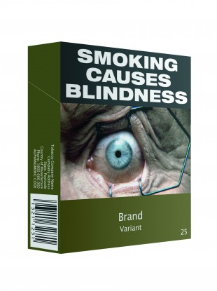 This is what plain packs of cigarettes look like in Australia.