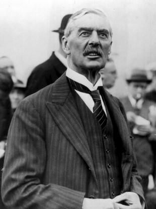 Neville Chamberlain, British Conservative statesman and Prime Minister (1937-1940)