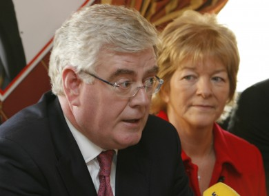 Anne Ferris TD pictured alongside Labour leader Eamon Gilmore.