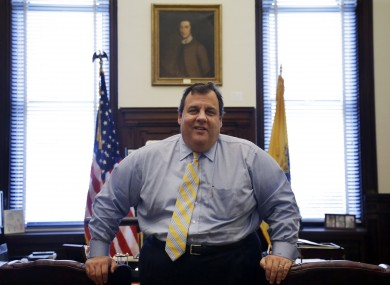 Chris Christie in his office in New Jersey (File photo)