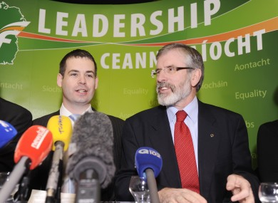 Pearse Doherty and Gerry Adams