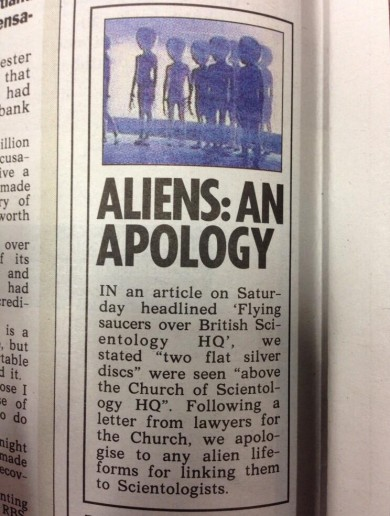 The Sun has just issued this apology…