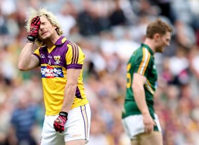 Wexford's Ben Brosnan looks dejected.