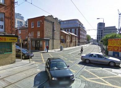 Junction of Benburb St and Quenn St in Dublin.
