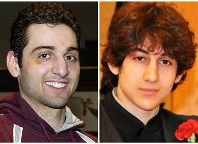 This combination of undated file photos shows Tamerlan Tsarnaev, 26, left, and Dzhokhar Tsarnaev, 19