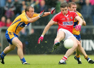 Cork's Daniel Goulding scores the opening goal of the game.