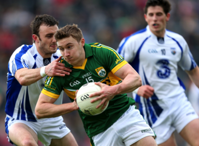 Waterford's Tadhg O hUallacháin and James O'Donoghue of Kerry.