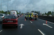 Car overturns in M50 collision
