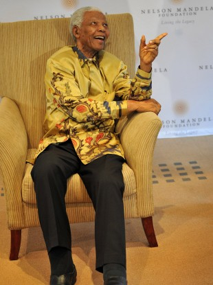 The former South African President Nelson Mandela in April 2009.