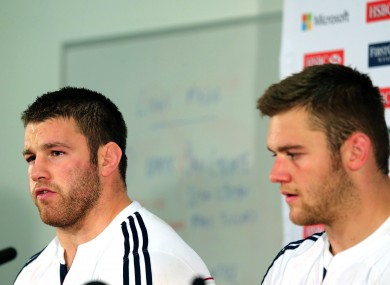 Sean O'Brien and Lions captain today Dan Lydiate.
