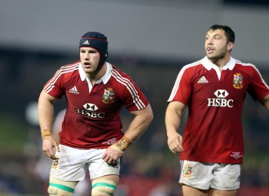 Sean O'Brien (left) starts at blindside flanker.