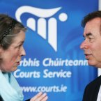 Chief Justice Susan Denham present the annual report to the Minister Alan Shatter today (Sasko Lazarov/Photocall Ireland).