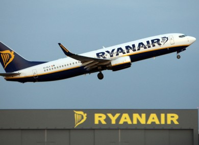 File phot of a Ryanair jet taking offfrom Stansted